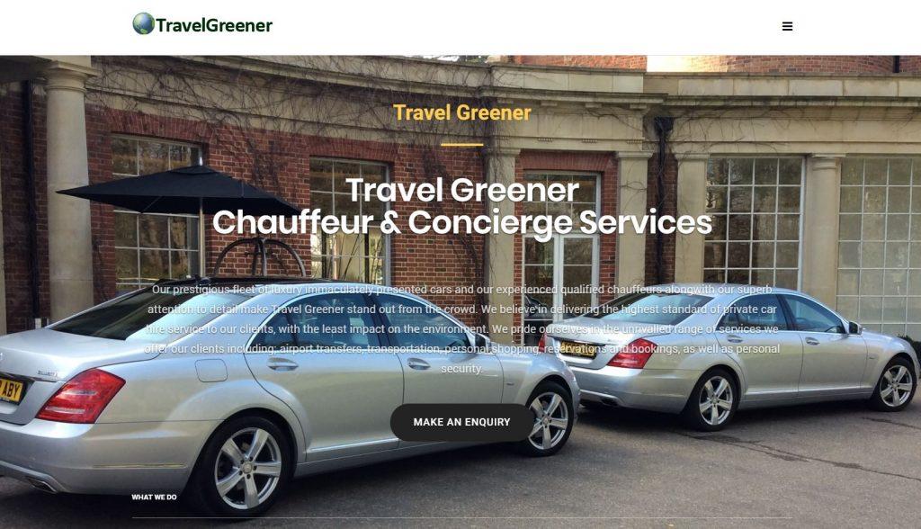 Travel Greener website