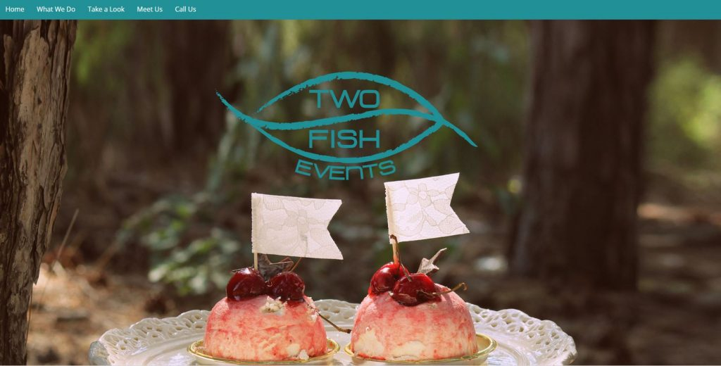 Two Fish Events website