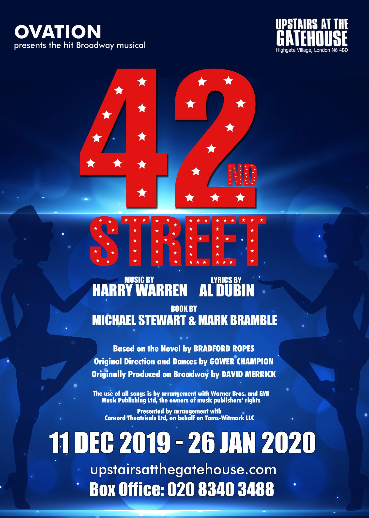 42nd Street poster for Upstairs at the Gatehouse